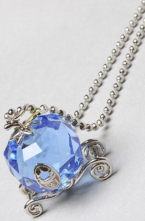 Feel like a princess?  Here is your something blue!  The Icon Collection Cinderella Carriage Necklace by Disney Couture Jewelry