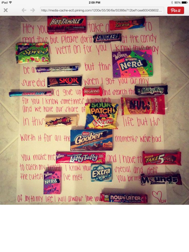 The 25 best Candy card boyfriend ideas – Valentines Cards with Candy