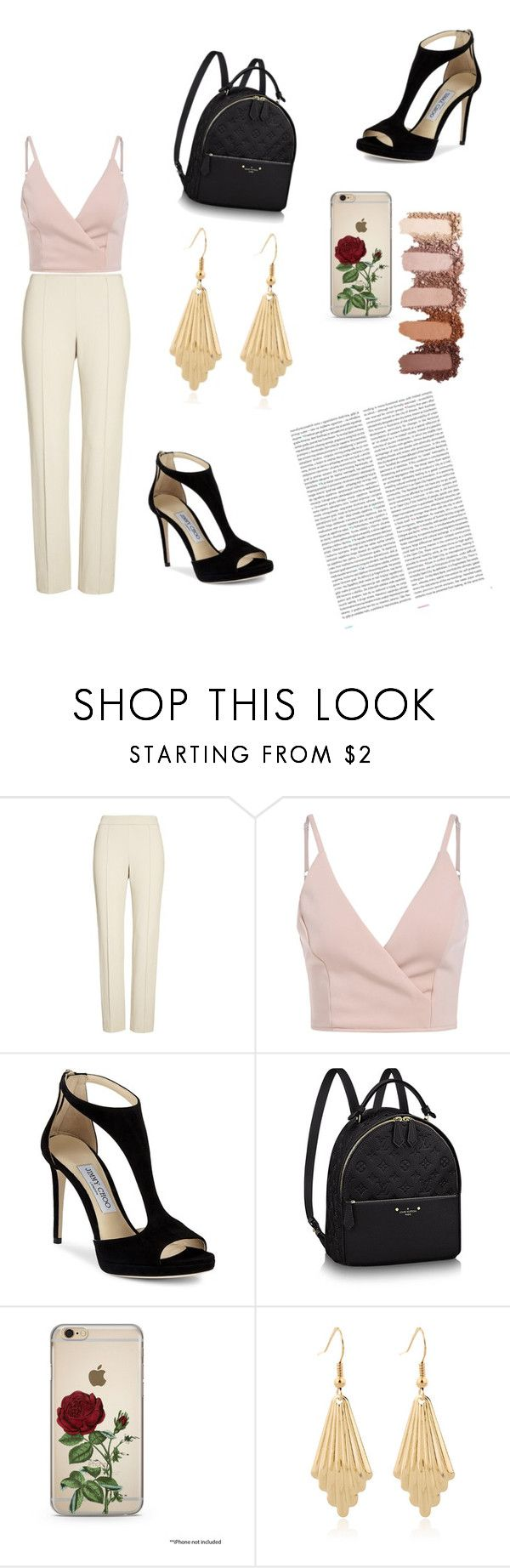 """""""happy hour"""" by blancau ❤ liked on Polyvore featuring St. John, Jimmy Choo and Oris"""