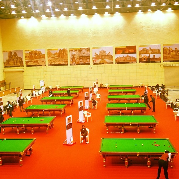 Snooker nationals Gwalior venue #snooker  #game #tables