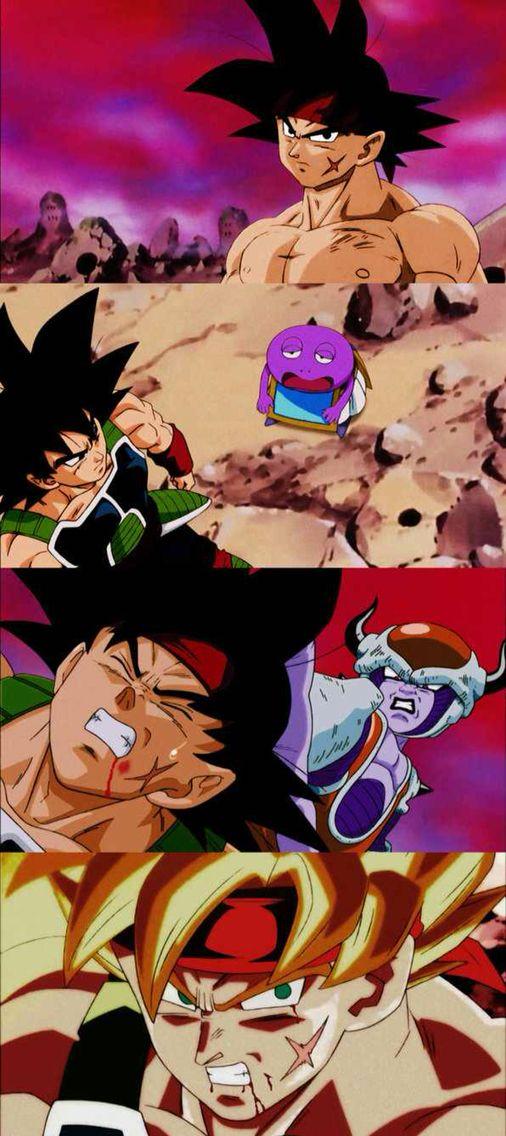 Episode of Bardock drawn in the classic Dragon Ball Z art style. #SonGokuKakarot