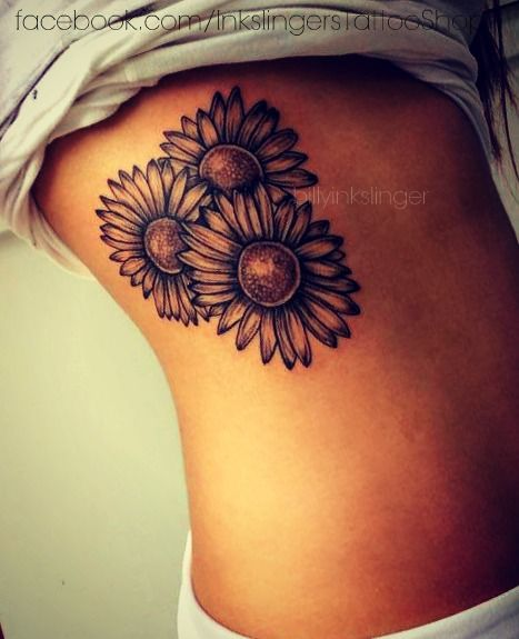 sunflower tattoo- Reminds me of my great-grandmothers garden. She always had sunflowers taller than me.