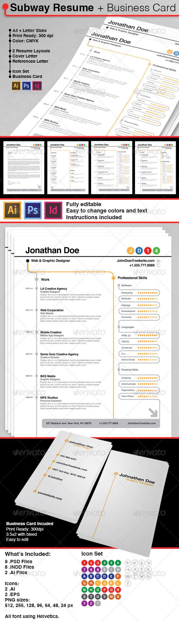 22 Best Curriculum Vitae Design Images On Pinterest Resume Cv