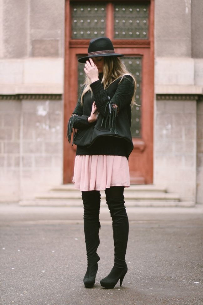 street style, looks, ootd, fashion blogger, bohemian, boho chic, over the knee boots www.styleisfresh.com