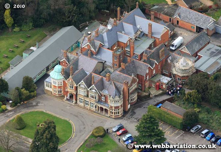 Bletchley Park--Where they worked on the German Enigma code machine.