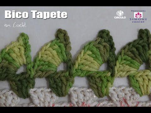 Bico tapete Crochê - Professora Simone