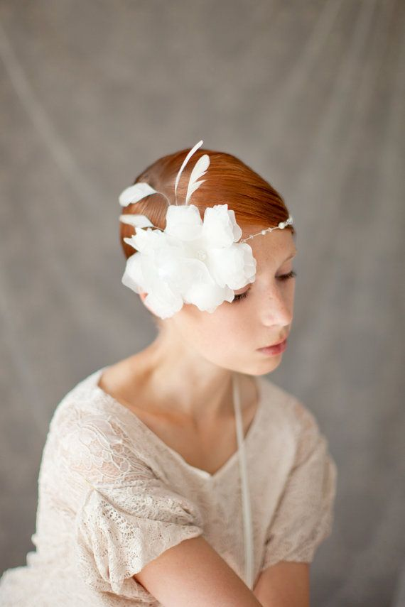 Beautiful bridal hair piece by Sibo Designs...
