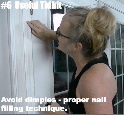 How to fill nail holes in trim molding with no dimples