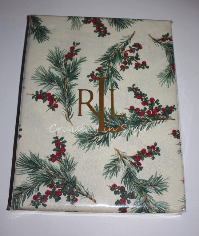 Ralph Lauren Table Linens Part - 50: Ralph Lauren Tablecloth Cedarberry Print 60 X 104 New Christmas  Thanksgiving NEW #RalphLauren
