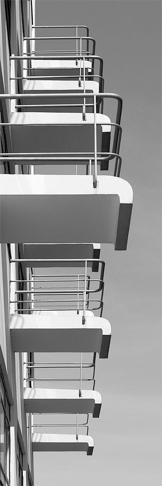 Bauhaus Dessau - Balkone des Prellerhauses