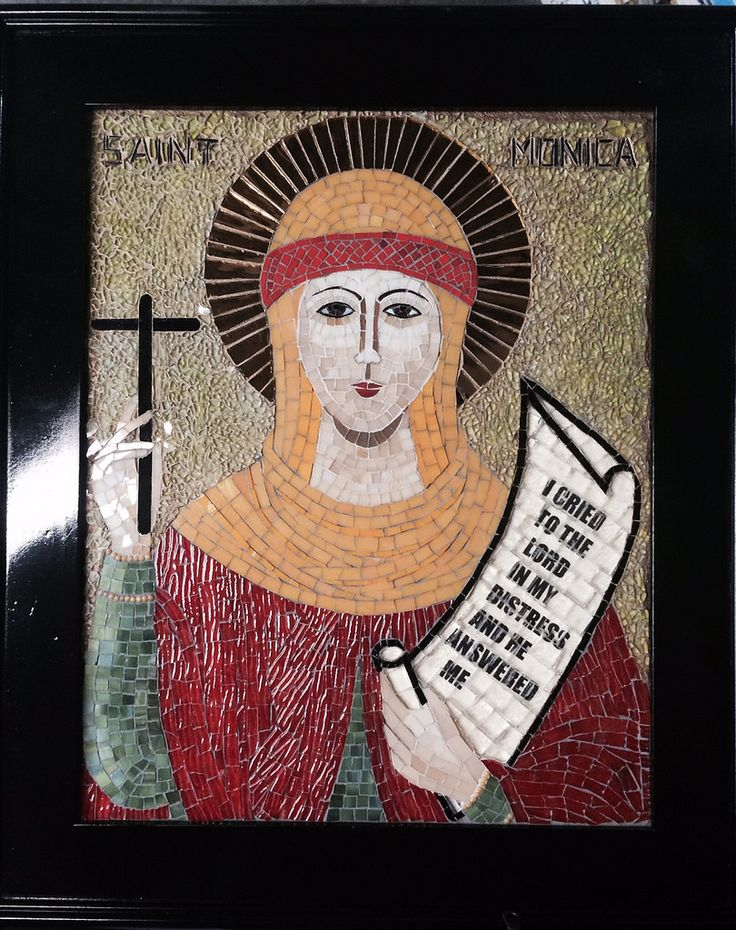 St. Monica | This icon has been made for St. Monica's School… | Flickr - Photo Sharing!