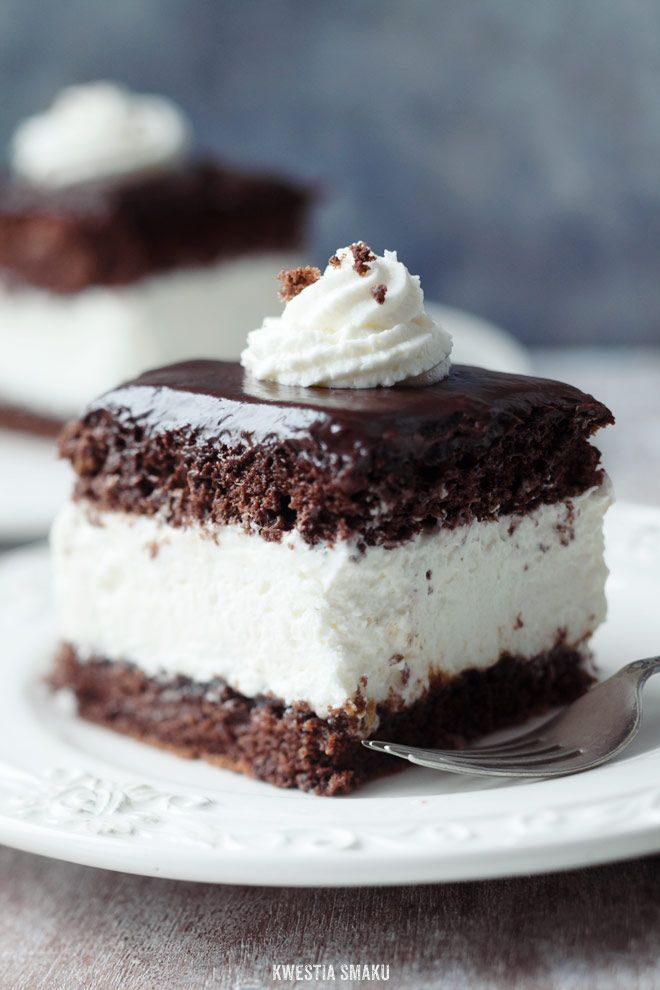 Chocolate Cake with Whipped Cream Layer