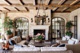 GORGEOUS outdoor Lanai .//. Loggia: Gisele Bündchen and Tom Brady's House in Los Angeles : Architectural Digest .//. Outdoor Living Perfection