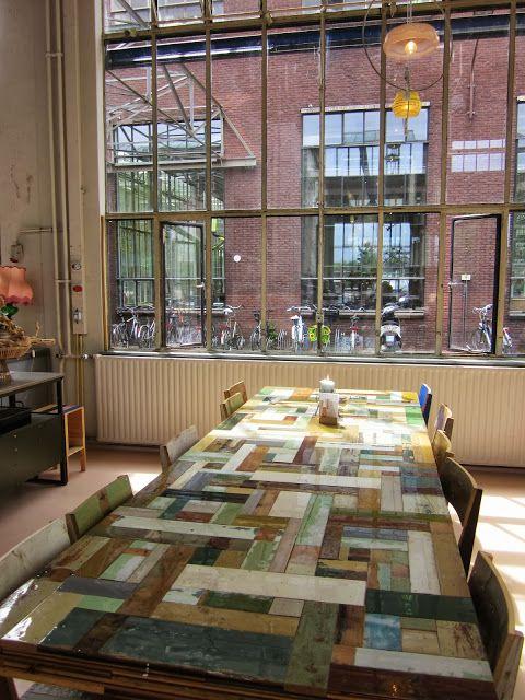 Piet Hein Eek Restaurant, Eindhoven, The Netherlands    http://www.pietheineek.nl/nl/restaurant
