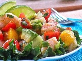 SO good! SO simple! Shrimp, Mango & Avocado Salad :) - I have such a hard time w/ avocado in my household- I am the only one that LOVES it....that's a whole lot of avocado for one person. Maybe this will be the recipe to change that