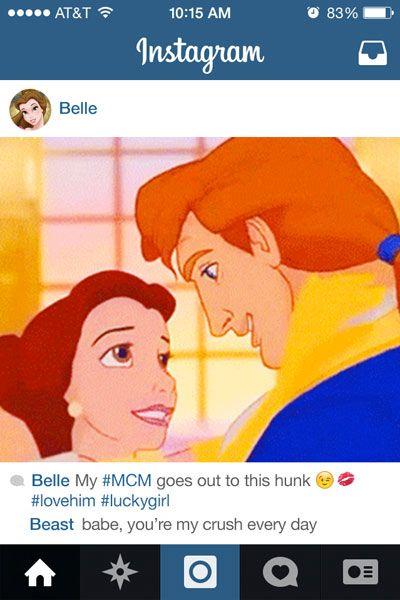 If Disney Princesses Had Instagram!