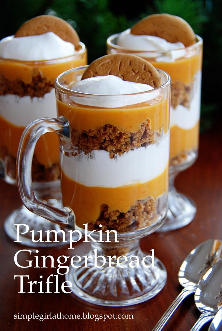 Simple Girl: Pumpkin Gingerbread Trifle - Very pretty
