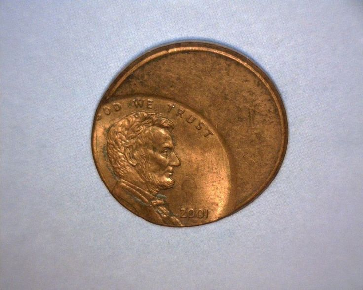 2001 Lincoln Cent  OFF CENTER,  US ERROR COIN
