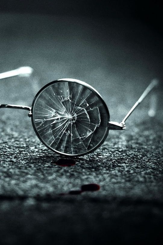 "Ch. 10: "" Atticus pushed his glasses to his forehead; they slipped down, and he dropped them in the street. In the silence , I heard them crack."" ( Lee 96 ) This is an example of symbolism. The glasses cracking show how Atticus shatters what everyone thinks of him and everything they think makes him weak."