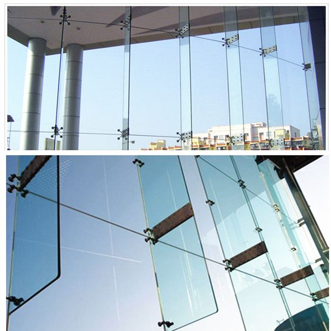 Laminated Glass Facade Support Fin Laminated Glass Glass Building Glass Facades
