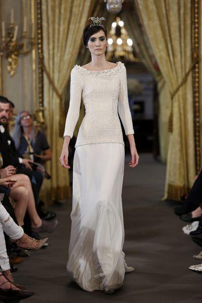 Vestidos de novia con cuello barco 2017. ¡Elegancia pura! Image: 22