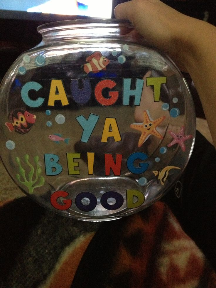 Created my own positive reinforcement jar!!! When the class fills it up we will watch Finding Nemo!
