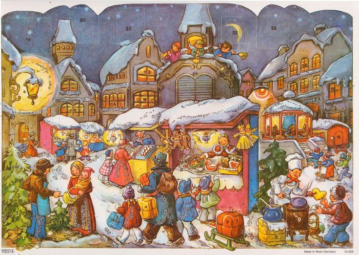 Advent Calendar Vintage : Vintage german advent calendar adventkalenders