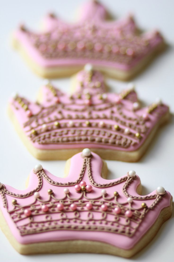 Crown & Number Sugar Cookies