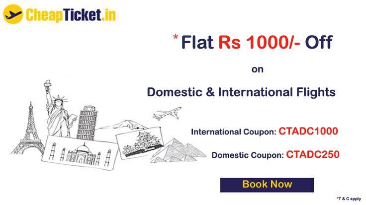 Air ticket booking: Book air flights tickets with great saving. Find the amazing deals on domestic & international flights tickets booking only at airticketsindia.com.