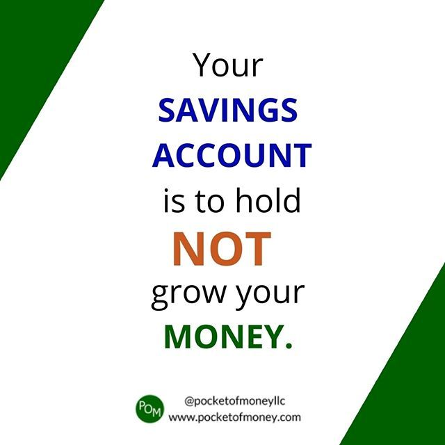 Reposting @pocketofmoneyllc: The interest rates on savings accounts range from 0.05 - 1%. That doesn't even keep up with inflation. But that's ok because it's not an investment account. Use your savings accounts to set money aside for a large purchase or emergencies. That's it. . For personal and business finance resources head over to pocketofmoney.com. Link in the bio. . #tip