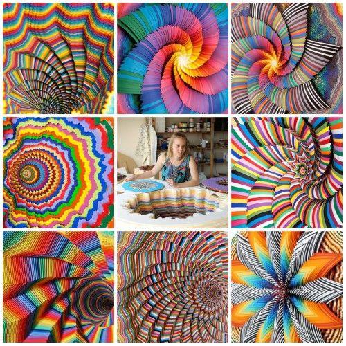 что можно сделать из бумаги: цветные коллажи Джен Старк