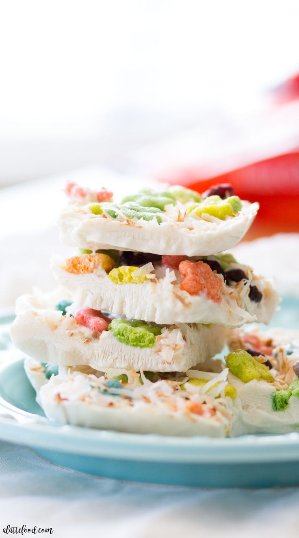 Frozen Greek Yogurt Cereal Bark