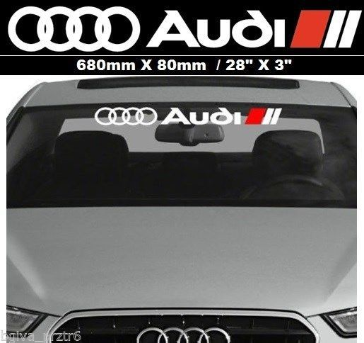 Car stickers for audi decal windshield