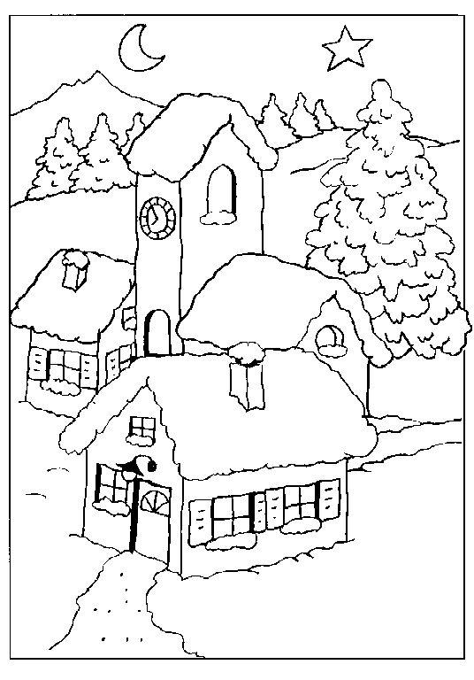 80 besten Coloring Pages (Winter) Bilder auf Pinterest | Malbücher ...