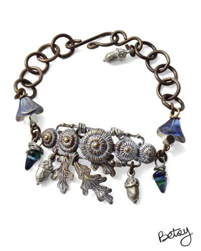Frosted Oak by Betsy Kaage using beads from our Online Bead Partner @bello Modo & Vintaj!