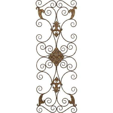Add an antiqued touch to your entryway or master suite with this elegant hand-forged metal decor, showcasing a scrolling motif and distressed black finish ...