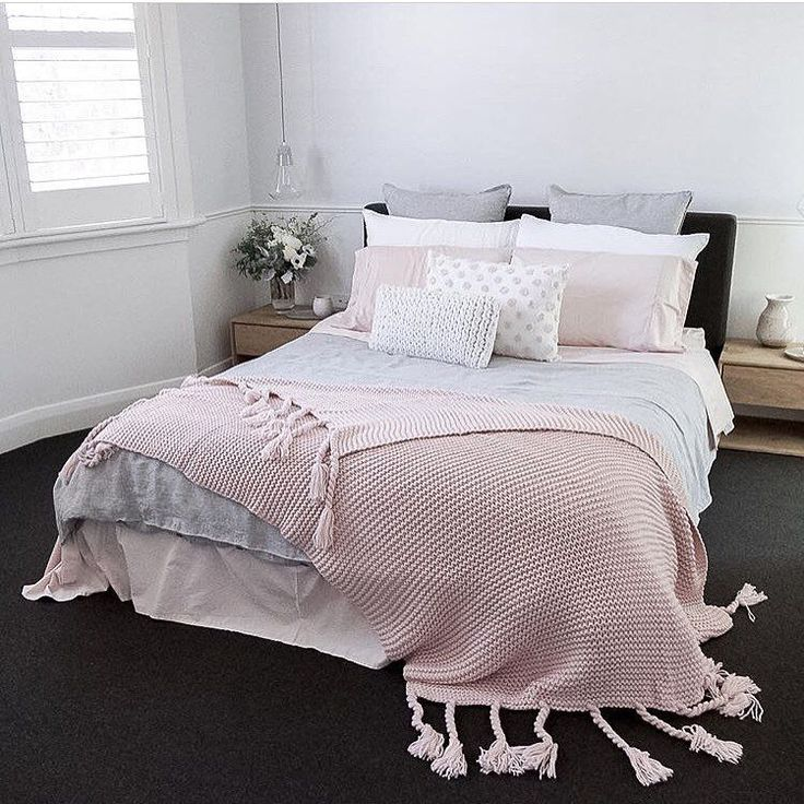 Light Pink Gray Bedroom : Best beautiful bedding images on bedroom