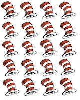 free Dr Seuss hat printable cupcake toppers