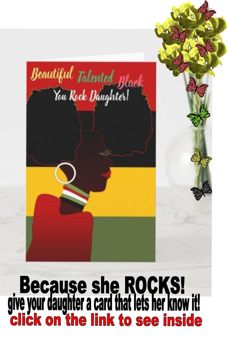 beautiful talented african american birthday card