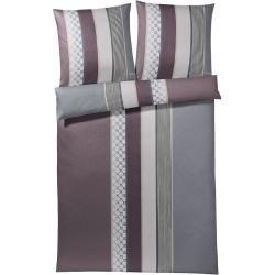 Janine Kopfkissenbezug einzeln 40×40 cm schmale Streifen Streifen-Bettwäsche modern classic perlblau