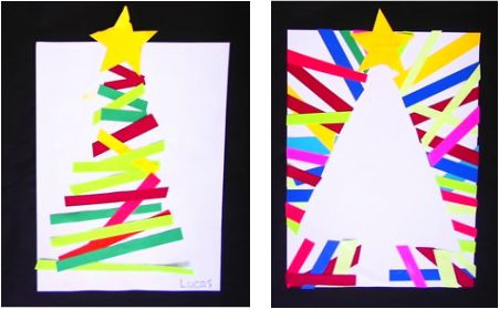 Christmas Tree Art for Kids - Elementary School Art Lesson