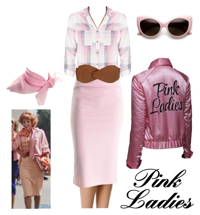 """Frenchie - Pink Ladies - Grease Halloween Costume"" by itsafabulouslife ❤ liked on Polyvore featuring Columbia"
