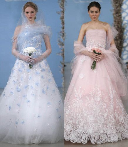 Brautkleid Satin in rosa Vera wang