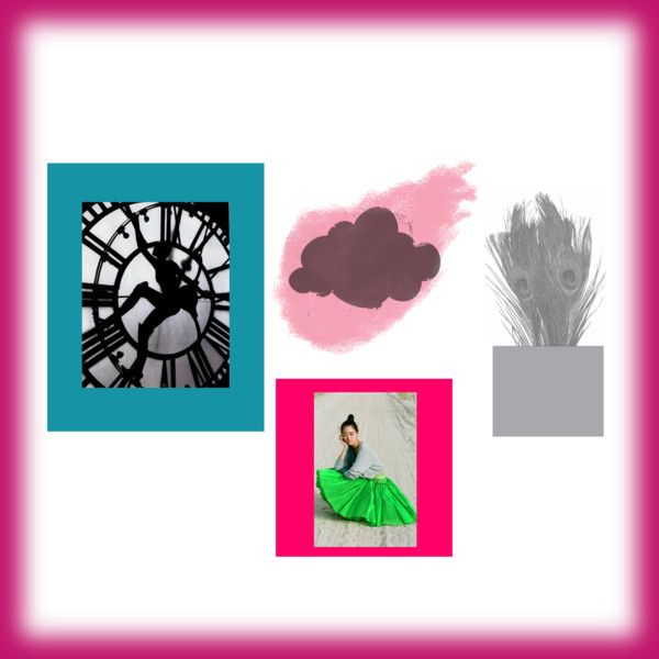 Pink Peacock Teal Time, created by sarah-siegel.polyvore.com