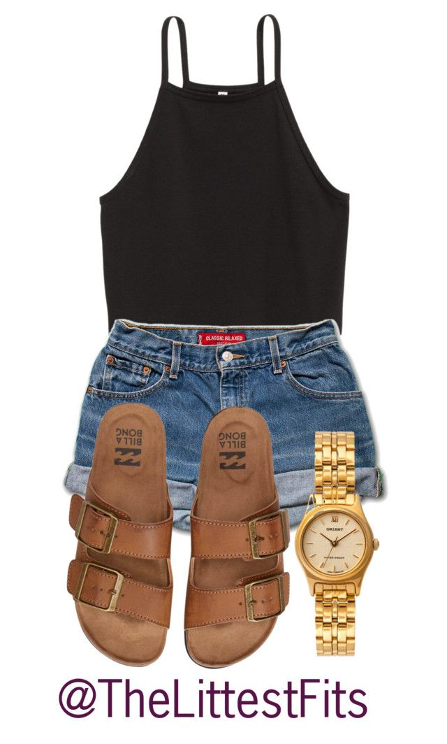 """""""Kinda Lame But Heyy I Tried """" by queen-erieee ❤ liked on Polyvore featuring American Apparel and Billabong"""
