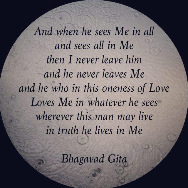 Bhagavad Gita, love this
