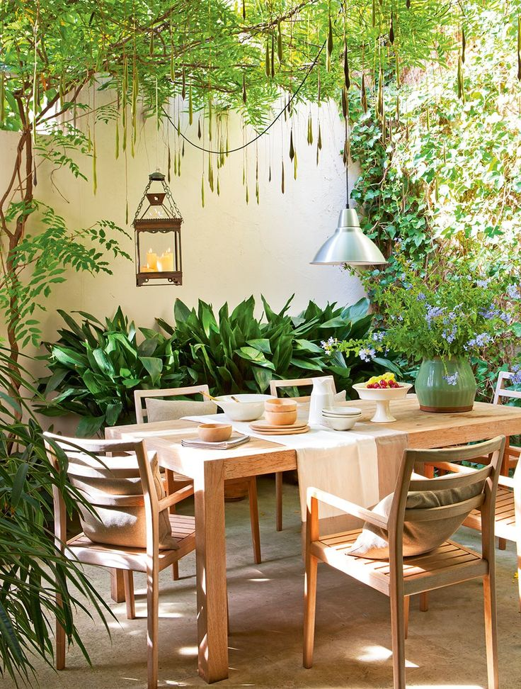 M s de 25 ideas fant sticas sobre plantas colgantes en for Decoracion de patios con macetas