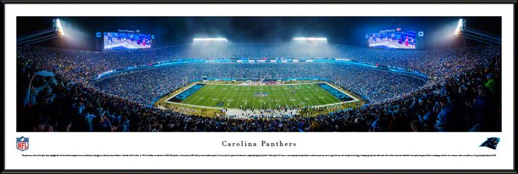 Carolina Panthers Panoramic Picture Framed - Bank of America Stadium