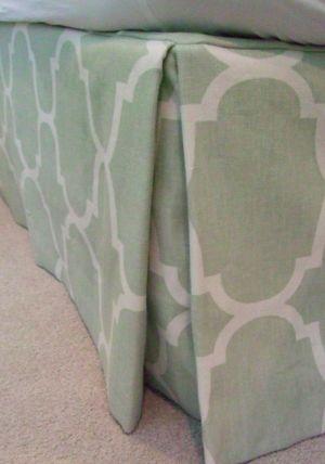 custom bedskirt