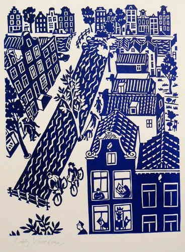 Amsterdam - Linocutprint